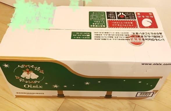 オイシックスのクリスマス外箱